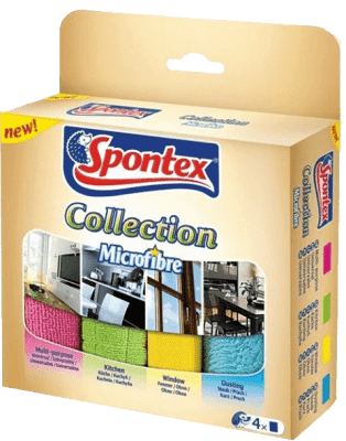 SPONTEX Mikroutierky Collection, 4 ks