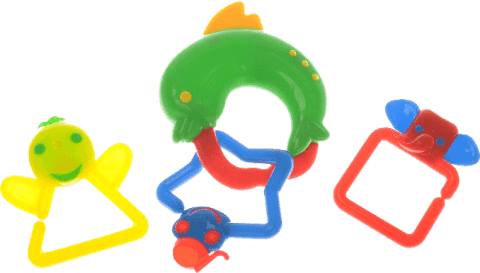 BABY'S HAPPINESS Chrastítko delfín - zelené