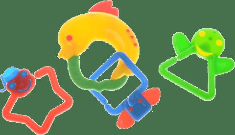 BABY'S HAPPINESS Chrastítko delfín - žluté