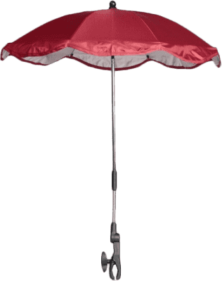 ZOPA Parasol przeciwsłoneczny okrągły +UV, czerwony