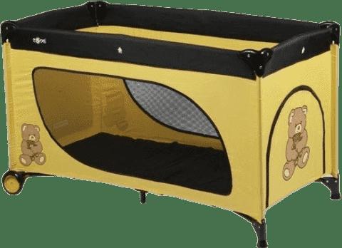 ZOPA Design podróżne łóżeczko Camping żółty niedźwiedź