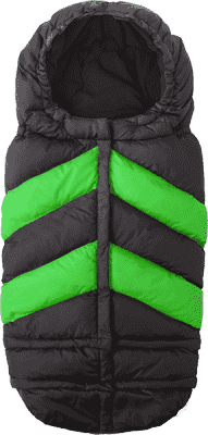 7 A.M. ENFANT Fusak do kočíka 3v1 Blanket 212 Chevron, Black/Green
