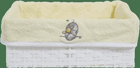 BEBE-JOU Košík na dojčenské potreby Humphrey žltý