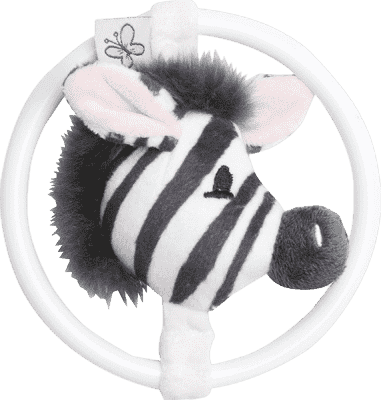 BEBE-JOU Dinkey Zebra, hryzátko s plyšovou myškou