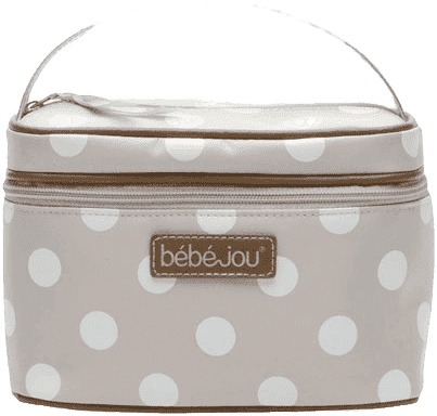 BEBE-JOU Beautycase-kosmetická taška, odepínací víko, natural puntík