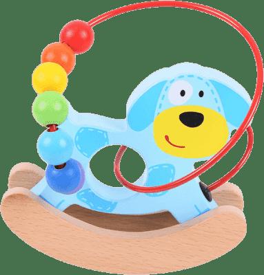 BIGJIGS Drewniany motoryczny labirynt huśtawka – Piesek