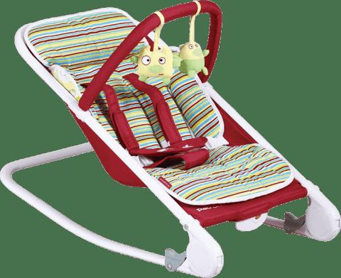 PATRON Leżaczek Relax – bordowe dodatki