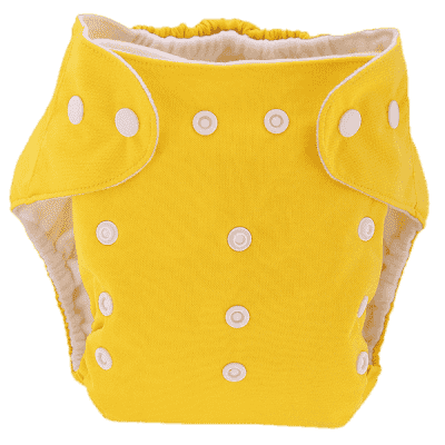 BOBOLIDER Pieluszka wielorazowa ECO Bobolider B1 żółta z wkładem z mikrofibry