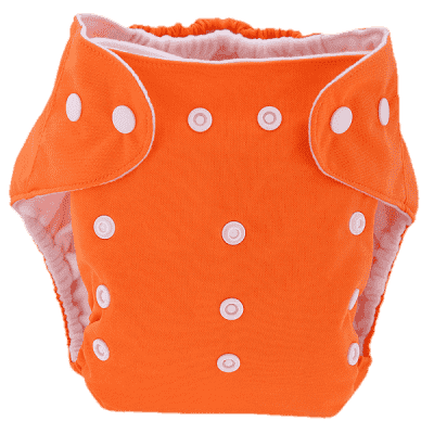 BOBOLIDER Plienkové nohavičky ECO Bobolider B17 - oranžovej, vložka z mikrovlákna