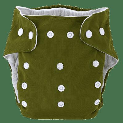 BOBOLIDER Plienkové nohavičky ECO Bobolider B20 - tmavozelené, vložka z mikrovlákna