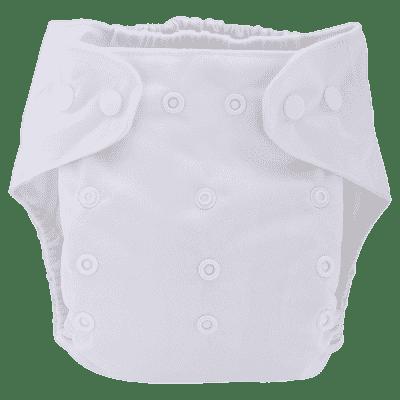 BOBOLIDER Plienkové nohavičky ECO Bobolider B22 - biele, vložka z mikrovlákna