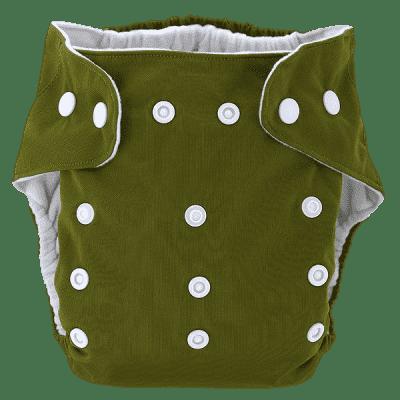 BOBOLIDER Plenkové kalhotky ECO Bobolider B20 – tmavozelené, bambusová vložka