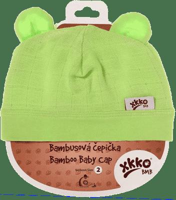 KIKKO Bambusová detská čiapočka Colours, vel. 3 - lime