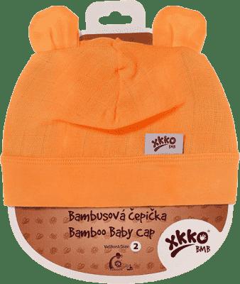 KIKKO Bambusowa dziecięca czapeczka Colours, rozm.4 - orange