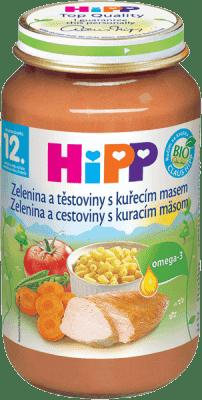 HIPP Zelenina s cestovinami a kuraťom 220g