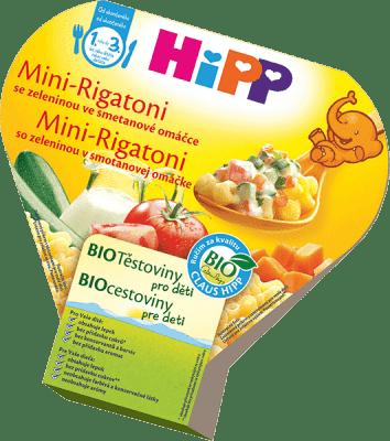 HIPP BIO Mini Rigatoni so zeleninou v smotanovej omáčke 250g