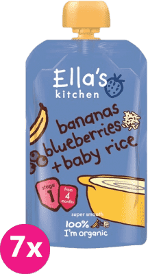 ELLA'S Kitchen Deser ryżowy BIO banan jagoda