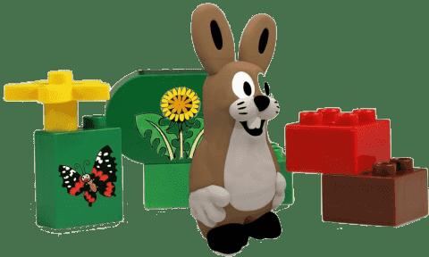 EPLINE Krtek sada extras (6 kociek + 1 figúrka zajac)