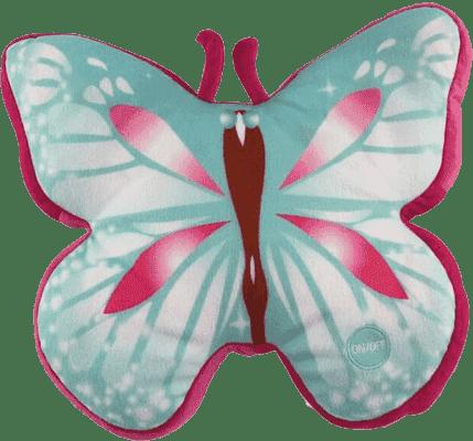 EPLINE Świecąca poduszka motyl, niebiesko-czerwona