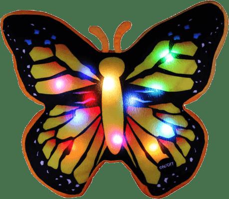 EPLINE Svítící polštář motýl, černo-žlutý