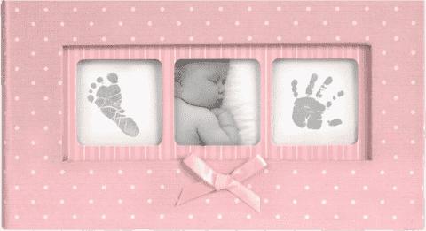 Album na zdjęcia Baby Polka Dot - 100 zdjęć (10 cm x 15 cm). Różowy.
