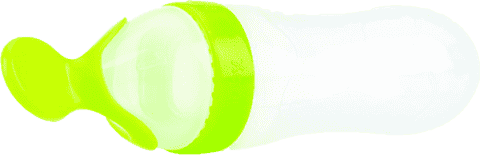 NUBY Butelka z łyżeczką Garden Fresh – zielona