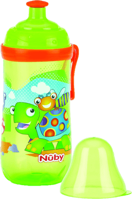 NUBY Sportovní láhev Pop-Up 360ml, 18m+, zelená