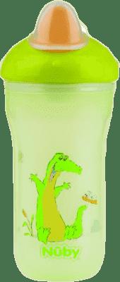 NUBY Termoizolační kelímek 270ml No-Spill™, 6m+, zelená