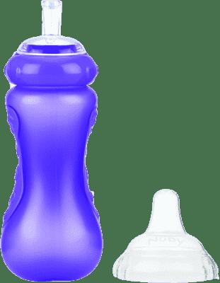 NUBY Bidon ze słomką 300 ml, 9 mies.+, fioletowy