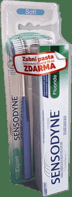 SENSODYNE Soft triopack ZK + SENSODYNE F 75 ml zadarmo