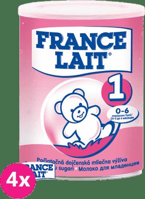 4x FRANCE LAIT 1 (400g) - počiatočné dojčenské mlieko