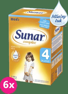 6x SUNAR Complex 4 (600g) - dojčenské mlieko