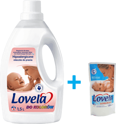 LOVELA Sensitive color 1,5l + prezent: LOVELA żel do prania 120ml gratis
