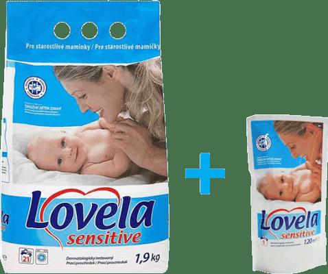 LOVELA Sensitive 1,9kg + prezent: LOVELA żel do prania 120ml gratis