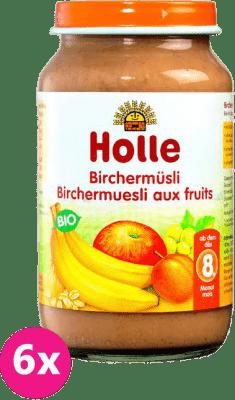 6x HOLLE Ovocné müsli – dětská ovocná přesnídávka, 220g