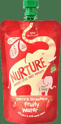 NURTURE Ovocná šťava čerešňa / jahoda 200ml