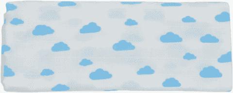 GLOOP Mušelínová plena 100x100 Blue Clouds