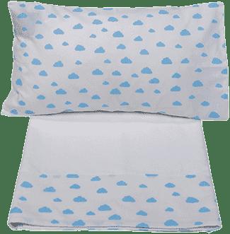 GLOOP Pościel do łóżeczka (poszewka, poszwa) Blue Clouds