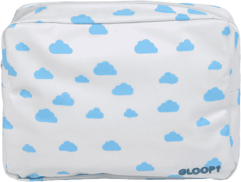 GLOOP Toaletní taštička Blue Clouds