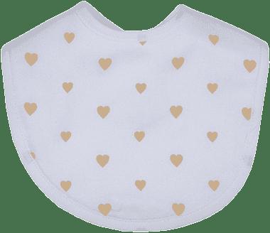 GLOOP Podbradník z organickej bavlny Little Hearts (2ks)