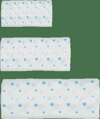 GLOOP mušelínové plienka 3 veľkosti Blue Dots