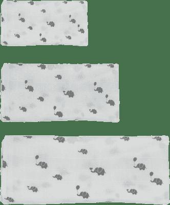 GLOOP Mušelínová plena 3 velikosti Elephants