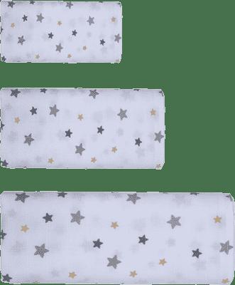 GLOOP mušelínové plienka 3 veľkosti Stars