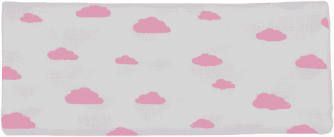 GLOOP Mušelínová plena 100X100 Pink Clouds (2ks)