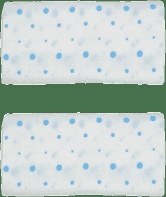 GLOOP Mušelínová plena 50x50 Blue Dots (2ks)