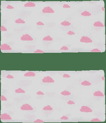 GLOOP Pieluszka muślinowa 50x50 Pink Clouds (2 szt.)