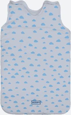 GLOOP Śpiworek do łóżeczka z organicznej bawełny 0 - 6 miesięcy Blue Clouds