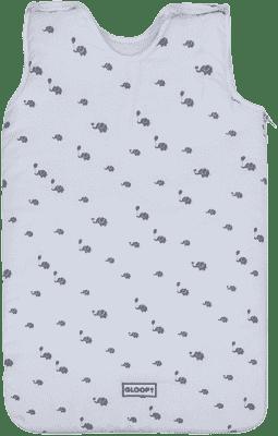 GLOOP Spací vak z organickej bavlny 0 - 6 mesiacov Elephants