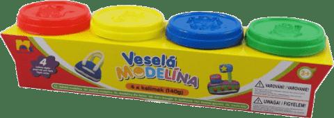 KIDS TOYS Modelína 4x 140g rôzne farby