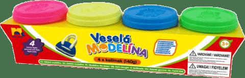 KIDS TOYS Modelína 4x 140g neónové farby